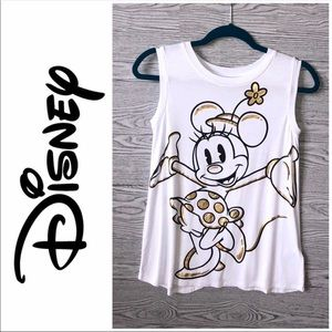 Disney | Minnie Mouse Gold Accent Tank (XS)